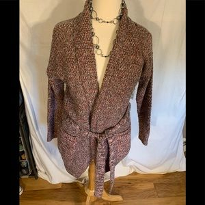 Laura Scott belted variegated cardigan NWT XL